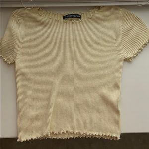 Pale Yellow frill top
